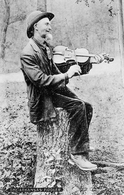 Photo of an Arkansas Fiddler