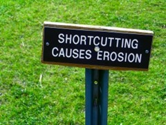 Shortcutting causes erosion