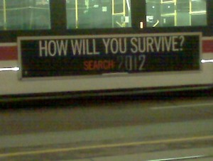 Transit ad for 2012 movie