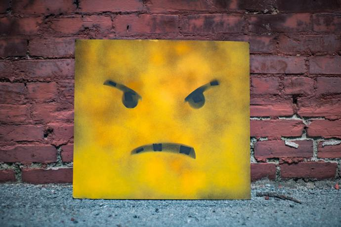 Picture of an angry face