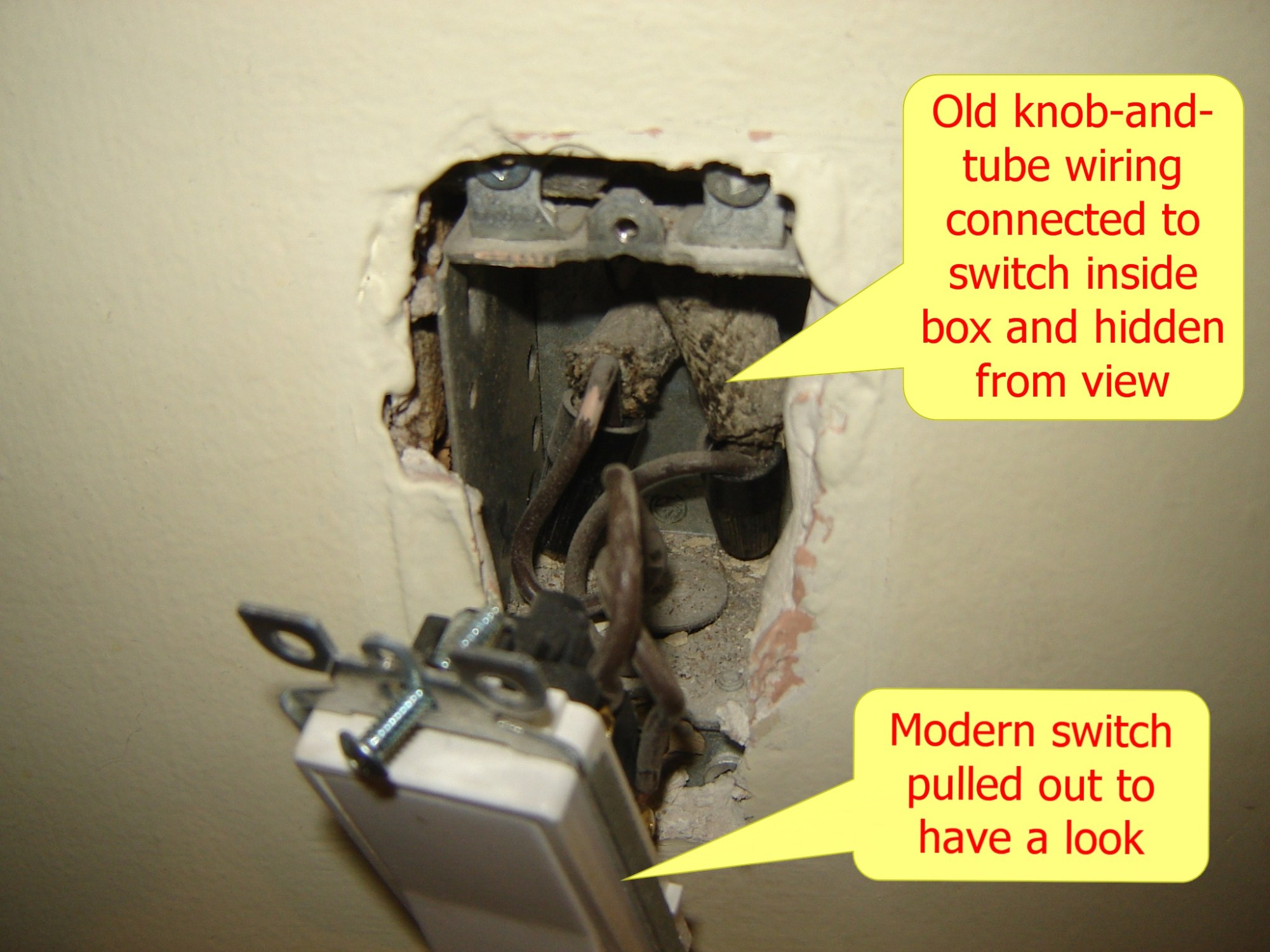 hight resolution of hidden knob and tube wiring