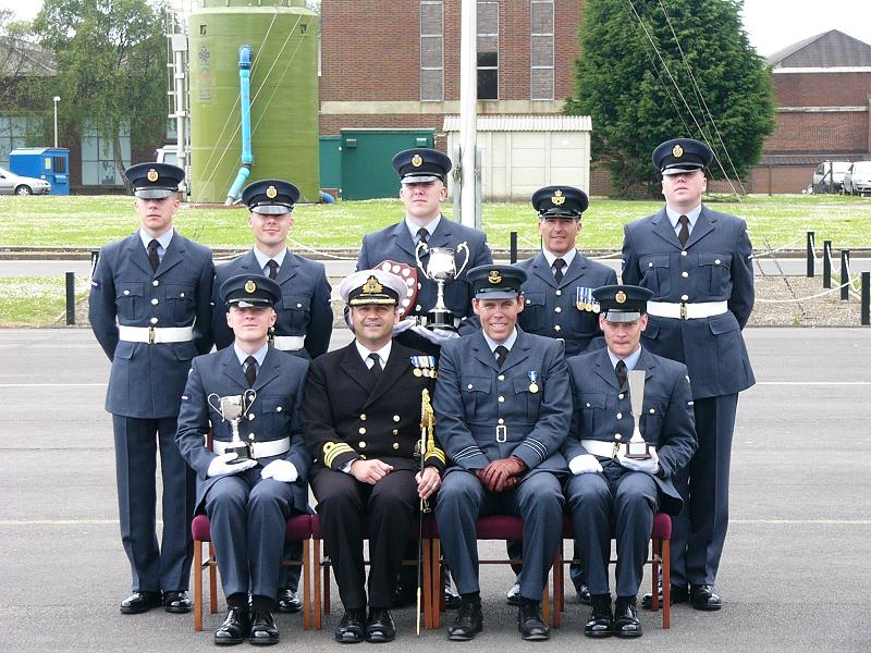 Graduation class and Commanding officers