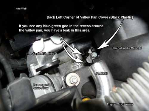 small resolution of again a coolant leak will be blue green