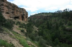 The Dwellings from the trail.