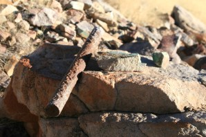 Dave's rock breaking rod, he found it buried in the rocks.