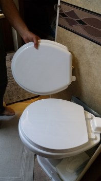 Replaced the toilet seat too