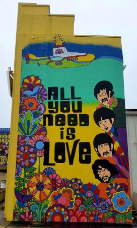 All you need is love! At the Liverpool Legends show.