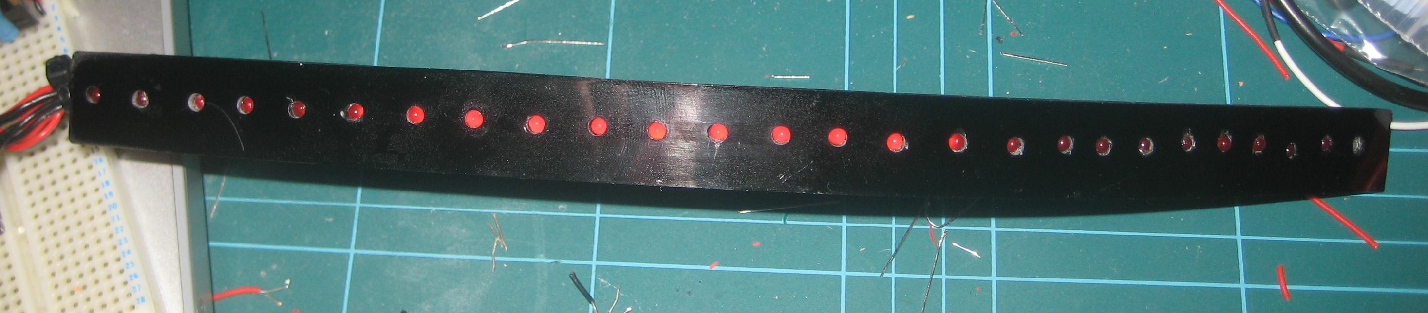 LED strip front