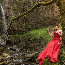 Visit Wales, waterfall , model-photography-melincourt falls-dave holdham photography