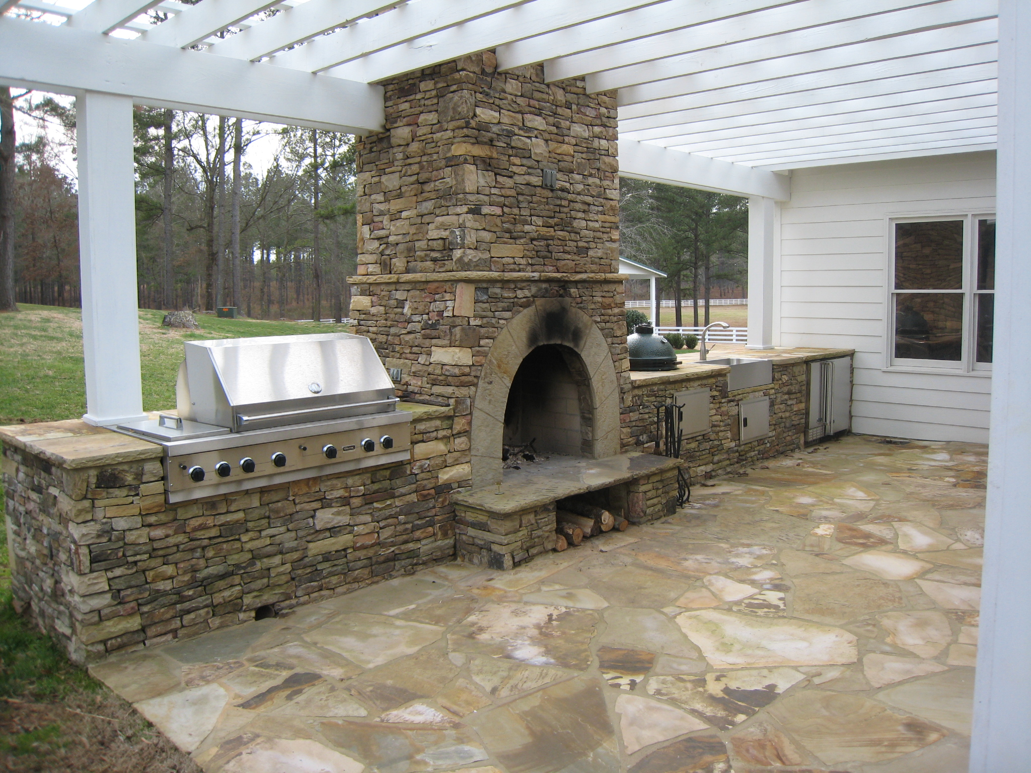 cost to build outdoor kitchen ceiling lights ideas kitchens and stone bbq design davel construction