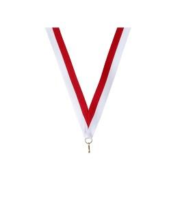 Medaille linten wit rood