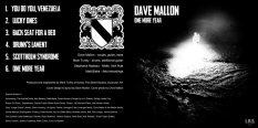 "Front and back cover of Dave Mallon's EP ""One More Year"" (2015, LRS Records). Cover photo by Chris Mallon."