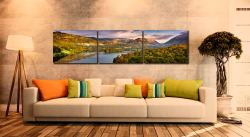 Grasmere Autumn Morning - 3 Panel Canvas on Wall
