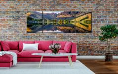 First Light at Buttermere  - 3 Panel Wide Centre Canvas on Wall