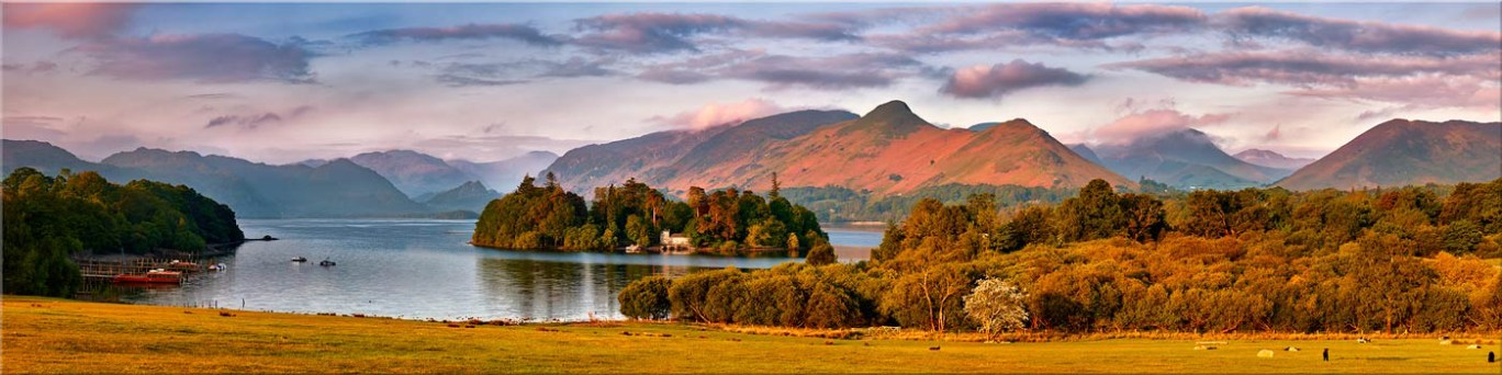 Derwent Water and Catbells in Morning Light - Canvas Prints