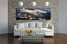 Sunbeams Over the Derwent Fells - Canvas Print on Wall