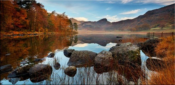 Golden Autumn Blea Tarn - Canvas Print