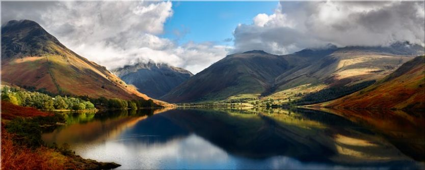 Wasdale Head Panorama - Canvas Prints