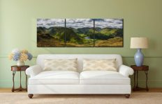 Satura Crag Panorama - 3 Panel Canvas on Wall
