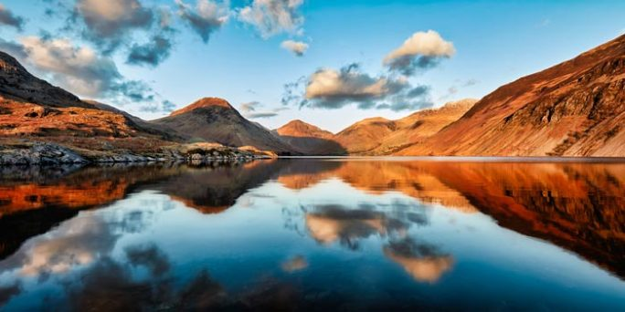 Golden Light Over Wast Water - Canvas Print
