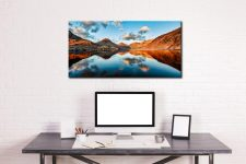 Golden Light Over Wast Water - Canvas Print on Wall