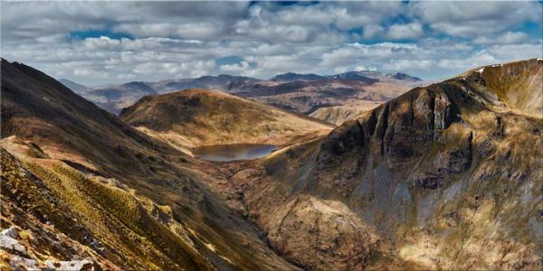 Grisedale Tarn Panorama - Lake District Print