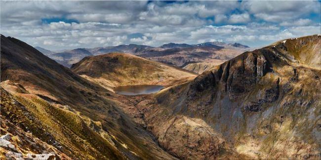 Grisedale Tarn Panorama - Canvas Print