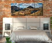 Pillar and High Crag from Haystacks - 3 Panel Canvas on Wall