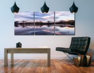 Colours of Dawn at Derwent Water  - 3 Panel Canvas on Wall