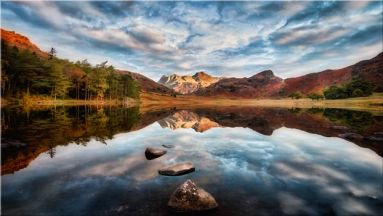 Light on the Langdales - Canvas Print