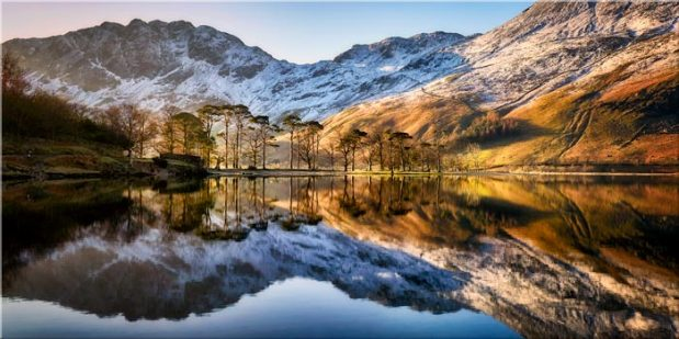 Winter Reflections Buttermere - Canvas Print