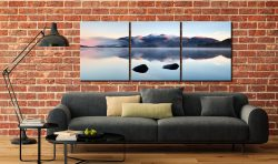New Day Dawns Over Derwent Water - 3 Panel Canvas on Wall