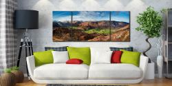 The Green Fields of Borrowdale - 3 Panel Wide Centre Canvas on Wall
