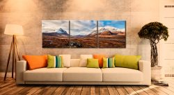 Cuillin Mountains from Glen Sligachan - 3 Panel Canvas on Wall