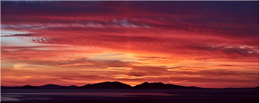 Colourful Hebredies Sunset - 3 Panel Wide Centre Canvas