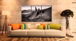 The Storr Isle of Skye - 3 Panel Canvas on Wall