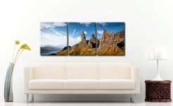 The Old Man of Storr and Needle Rock - 3 Panel Canvas on Wall
