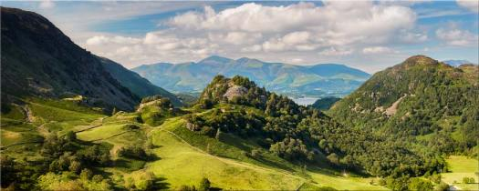 Castle Crag Summers Afternoon - Canvas Prints