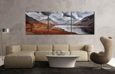 Dark Skies Over Wast Water - 3 Panel Canvas on Wall