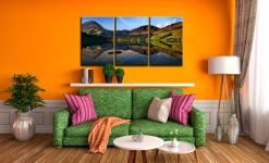 Stillness at Buttermere - 3 Panel Canvas on Wall
