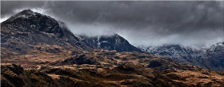 Scafell Mountains from Hardknott - Canvas Prints
