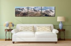 Helvellyn Mountains Panorama - 3 Panel Canvas on Wall