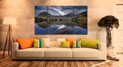 Buttermere Sky Rift - 3 Panel Canvas on Wall