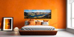 Ullswater and Glenridding Panorama - Canvas Prints Print on Wall