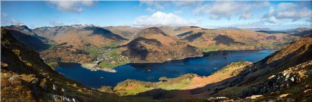 Ullswater and Glenridding Panorama - Canvas Prints
