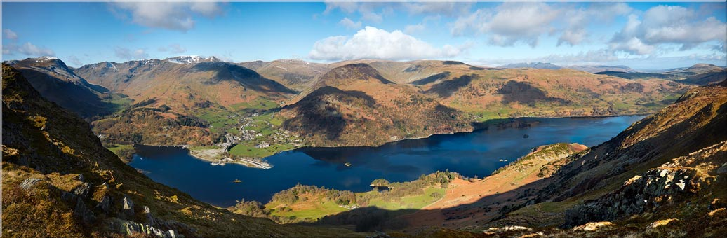 Ullswater and Glenridding Panorama - Canvas Prints