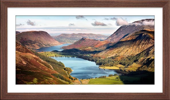 Buttermere and Crummock Water - Framed Print with Mount