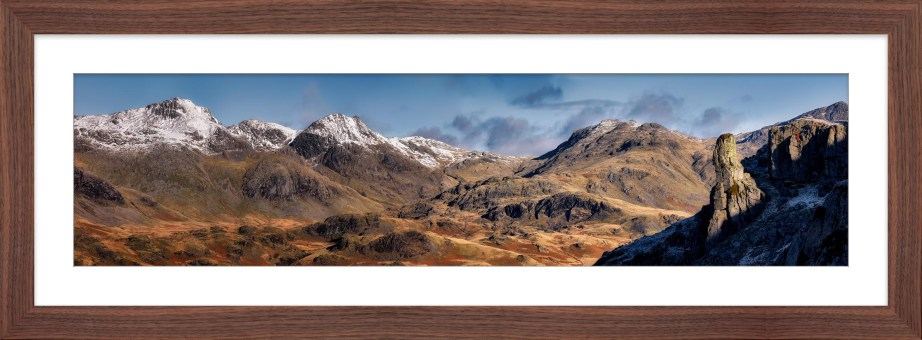 Eskdale Needle and Scafell Panorama - Framed Print