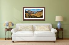 The Buttermere Valley - Framed Print with Mount on Wall