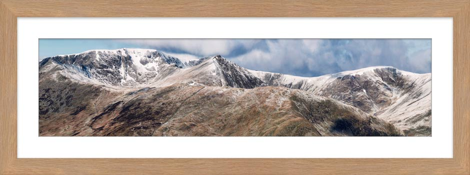 Helvellyn Mountains Panorama - Framed Print